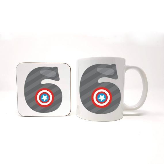 6 Year Old Gift Idea, Number 6 Gift Set, Personalise With Boys Name, Superhero Gift Idea, Boys Mug Gift Set, Personalised Set, Boys Birthday #superherogifts