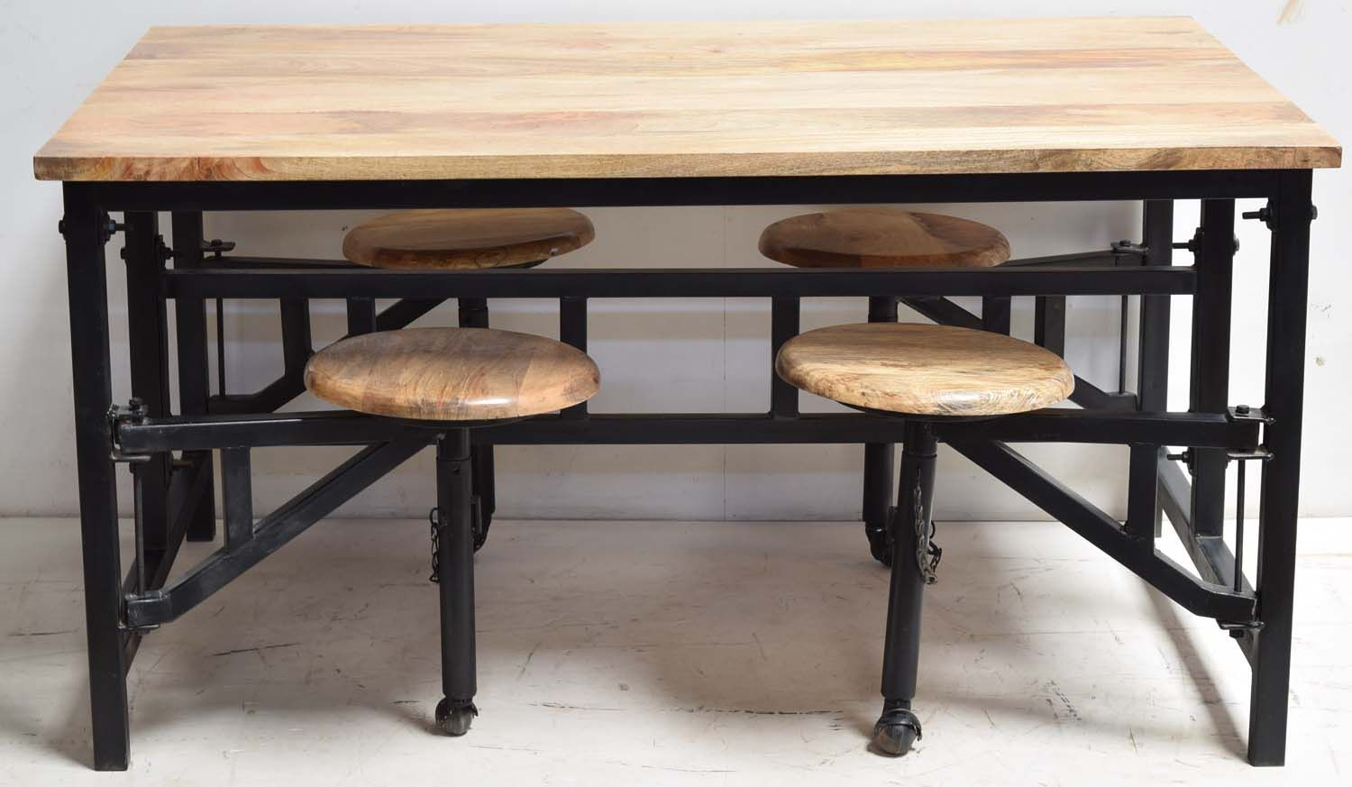 Industrial Canteen Table 4 Seat Folding Ckd Furniture Vintage Industrial Furniture