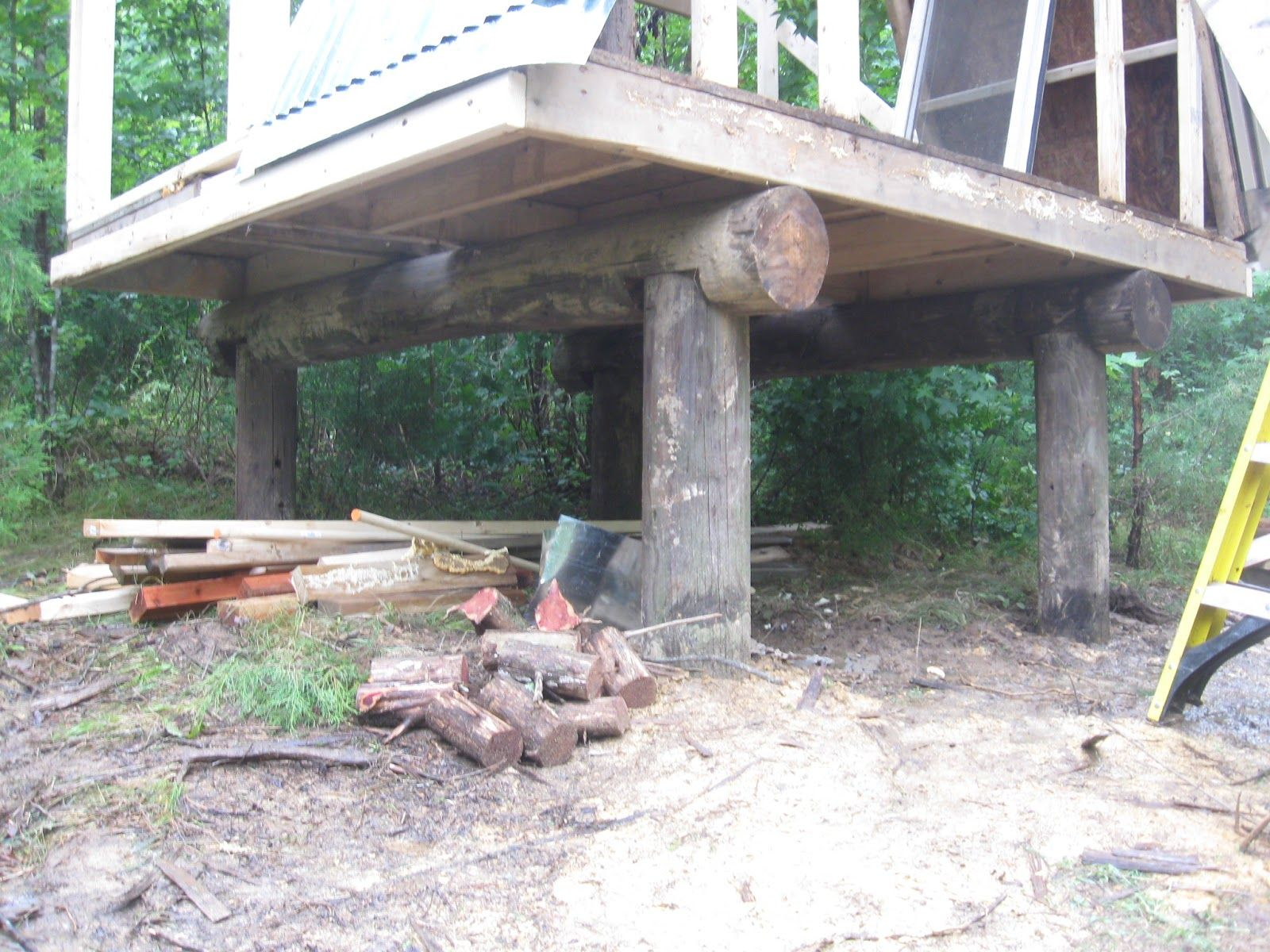 Building A Cabin Out Of Telephone Poles Google Search Building A Cabin Pole House Tree House
