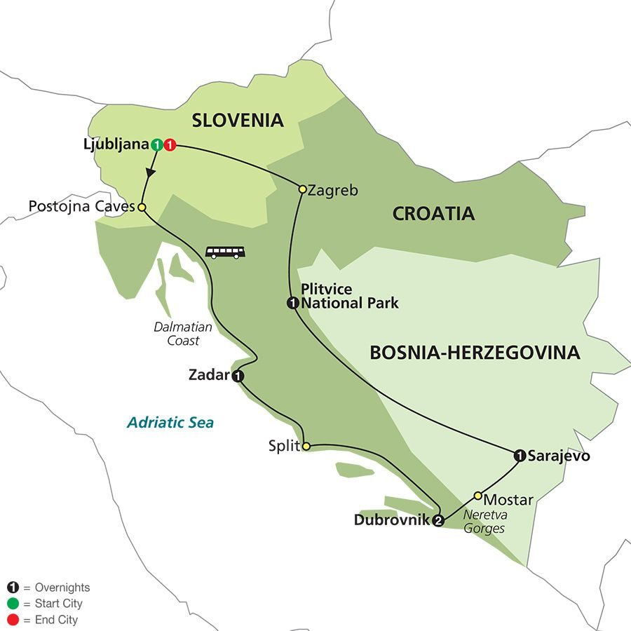 Slovenia Bosnia Croatia Tour Croatia Tours Croatia Europe Tours