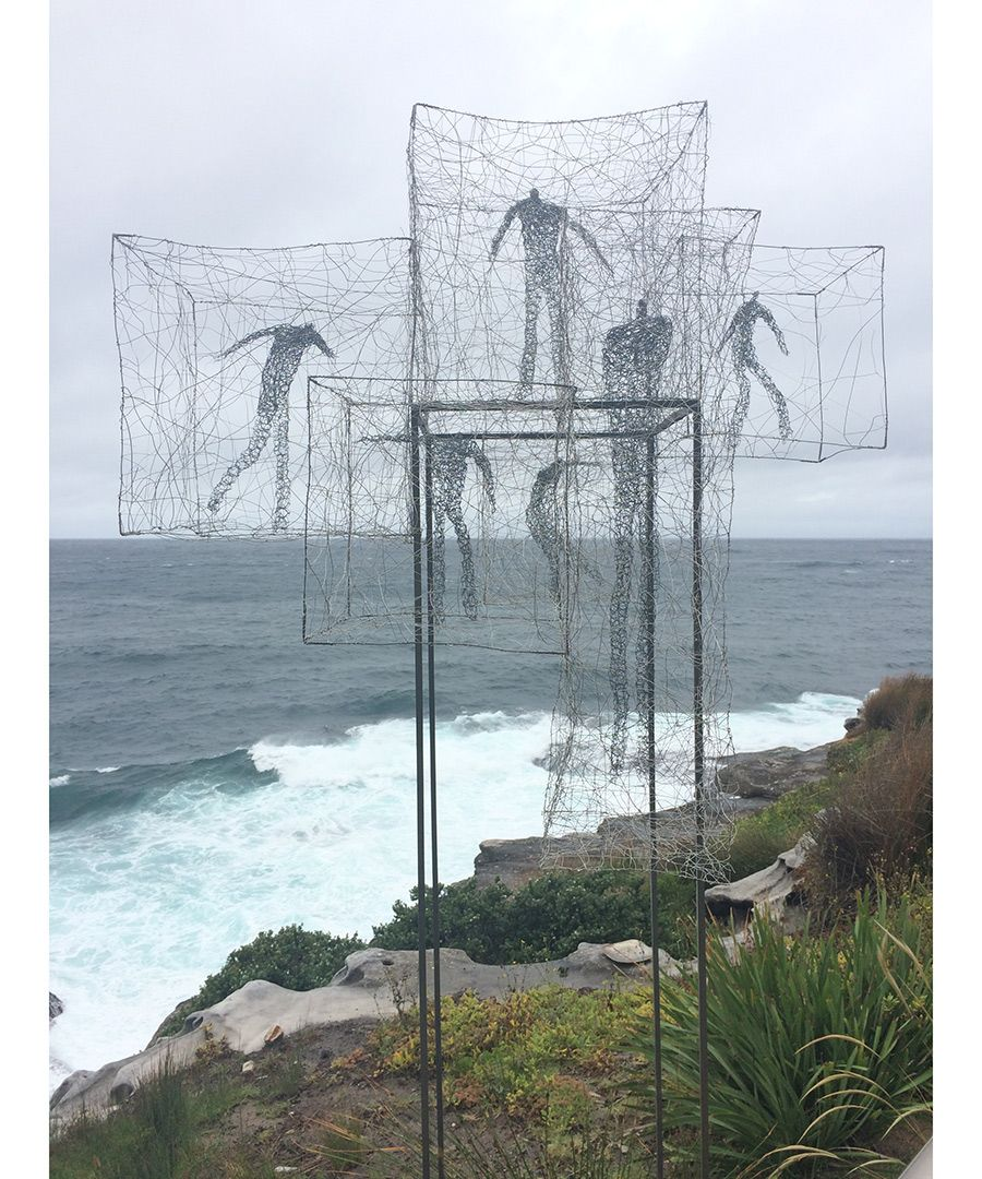 Dustin Hoffman's wife, Lisa Hoffman, shares pictures of her recent trip to Australia, where she visited Bondi Beach, Manly wharf and Sydney Harbor. Pictured: The annual Sculpture by the Sea exhibition along the coastal walk features 100 works by artists from 18 countries.