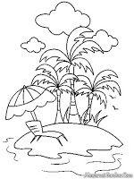 Gambar Mewarnai Pemandangan Pantai : gambar, mewarnai, pemandangan, pantai, Berjemur, Dipantai, Kuta,, Indah, Doodle,, Menggambar,, Gambar