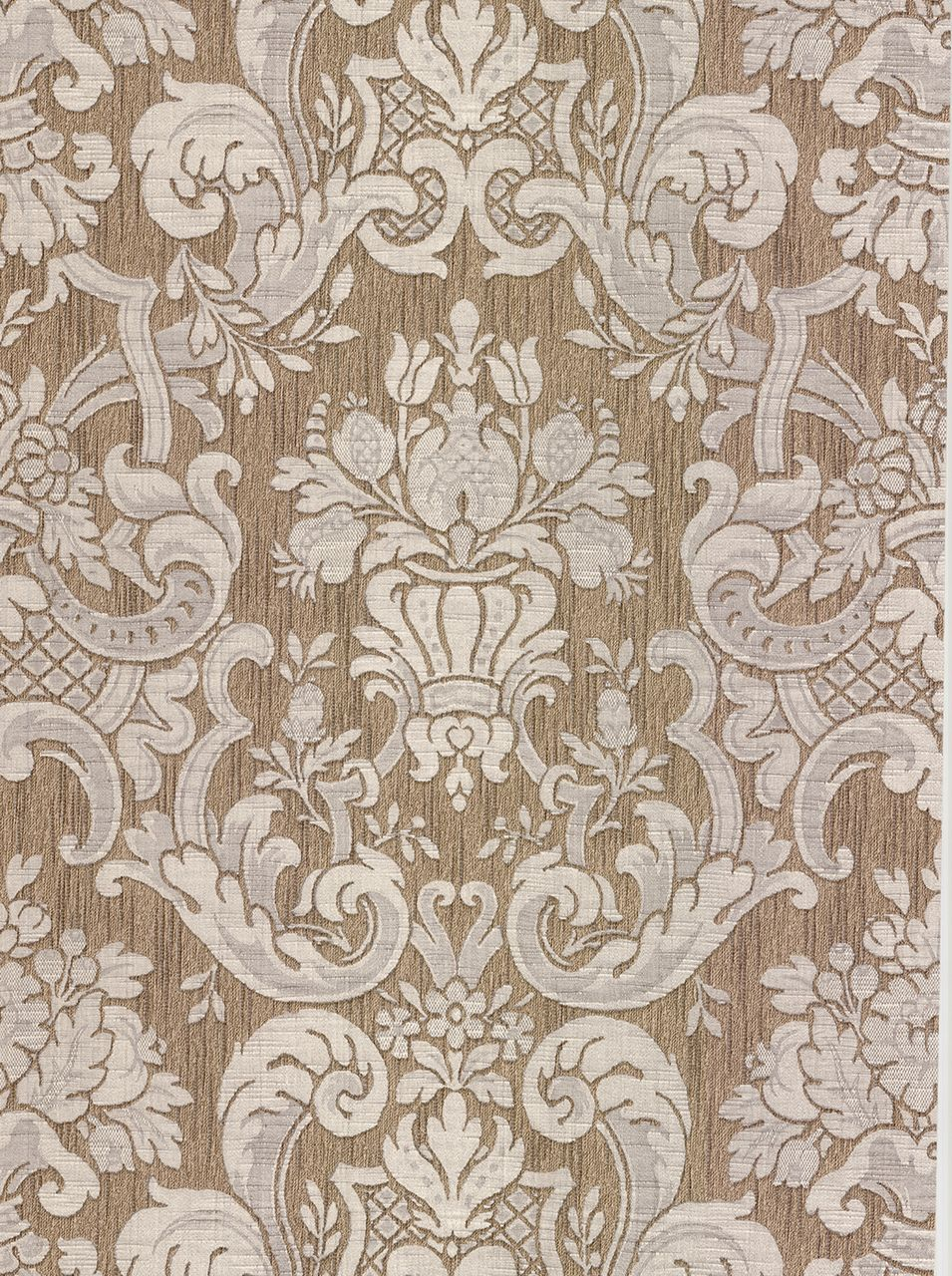 Bellissimo Vi By Brewster 2768 95552 Milano Taupe Damask Wallpaper Damask Wallpaper Brewster Wallpaper Grey Damask Wallpaper