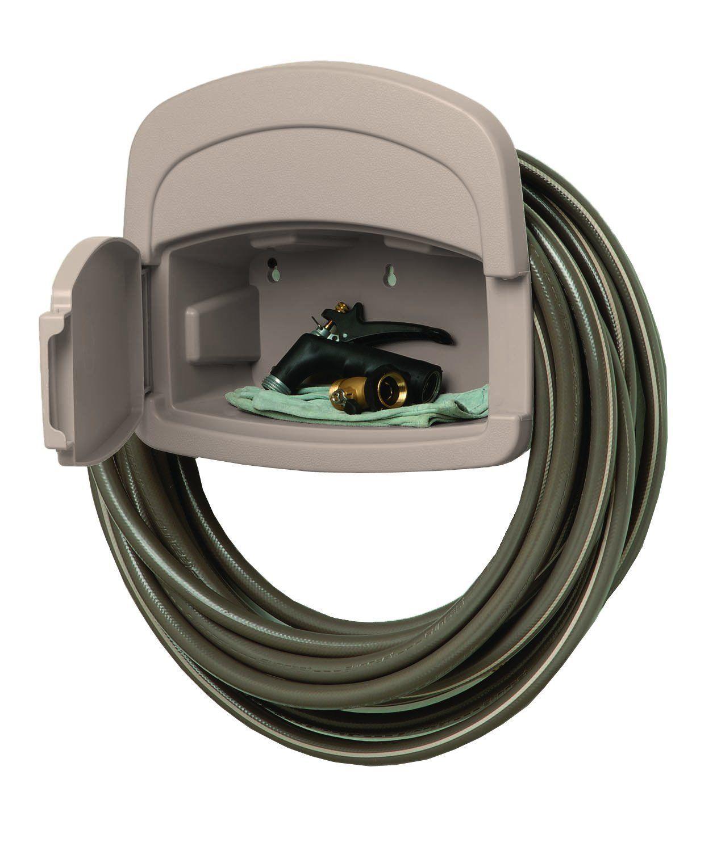 garden hose hanger. Amazon.com : Suncast DHH150 Deluxe Garden Hose Hangout With 150-Foot Capacity Hanger U