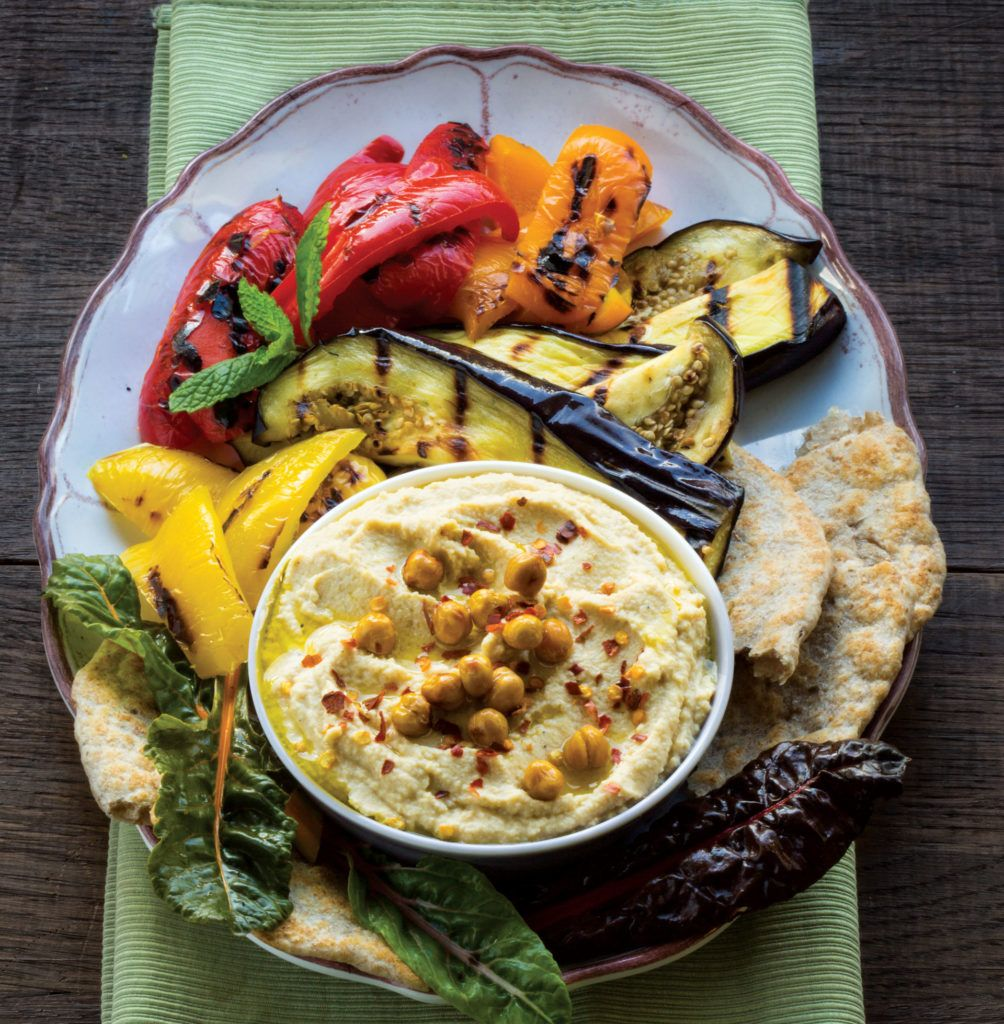 Family-Style Hummus and Vegetable Platter