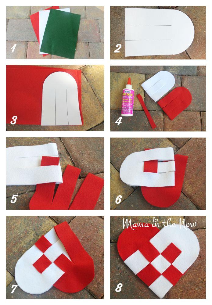 How To Make A Woven Danish Christmas Heart Craft Christmas Hearts Felt Hearts Crafts Danish Christmas