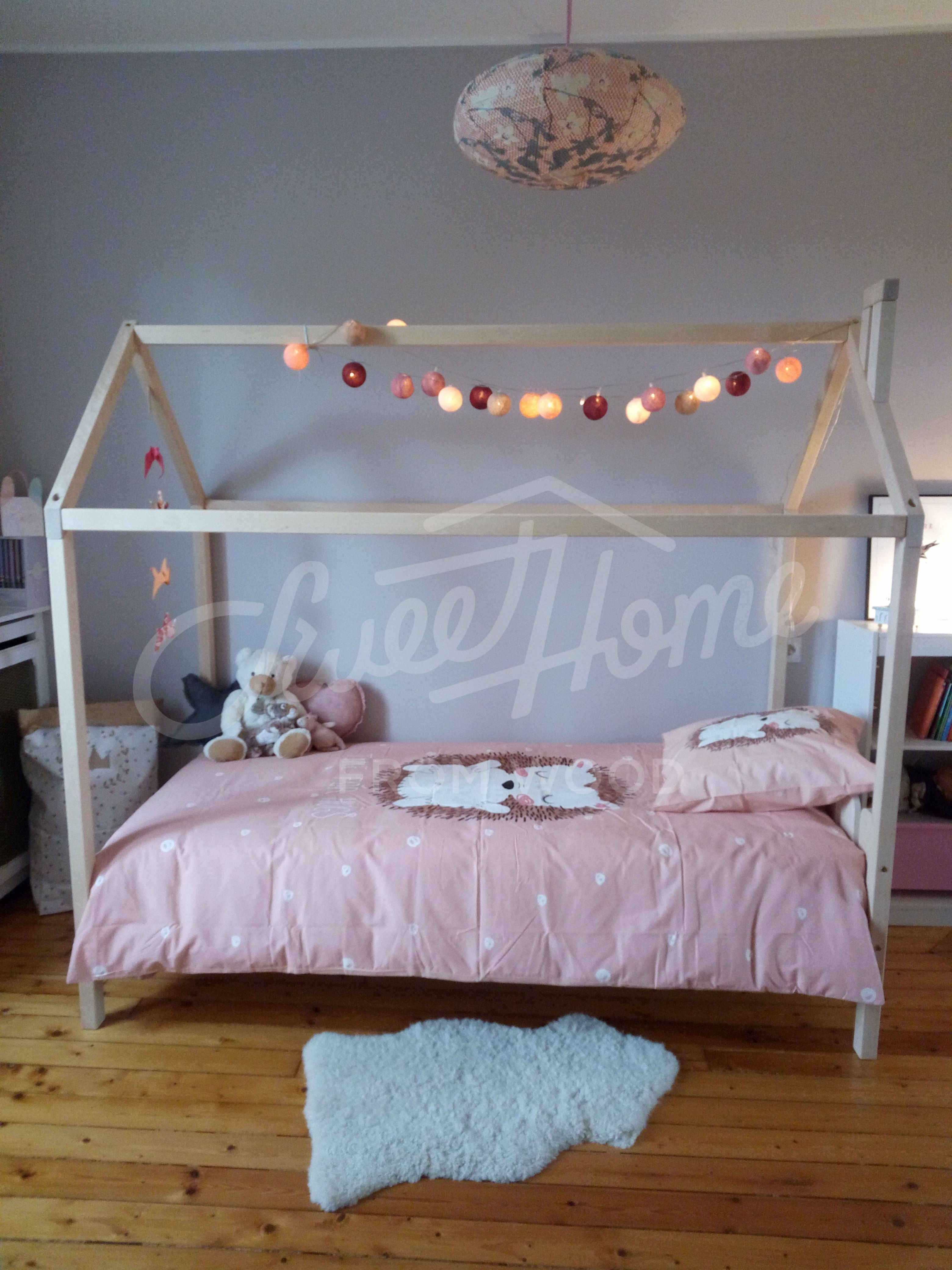 Scandi Style Bedding Baby Bed Tent Wood Bed Or Toddler Bed House Baby