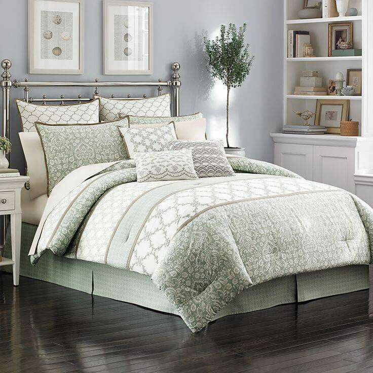 The laura ashley raeland comforter set features archive designs in  modern horizontal banded layout that combines classic damask also master bedroom   bed sheets dorado piece