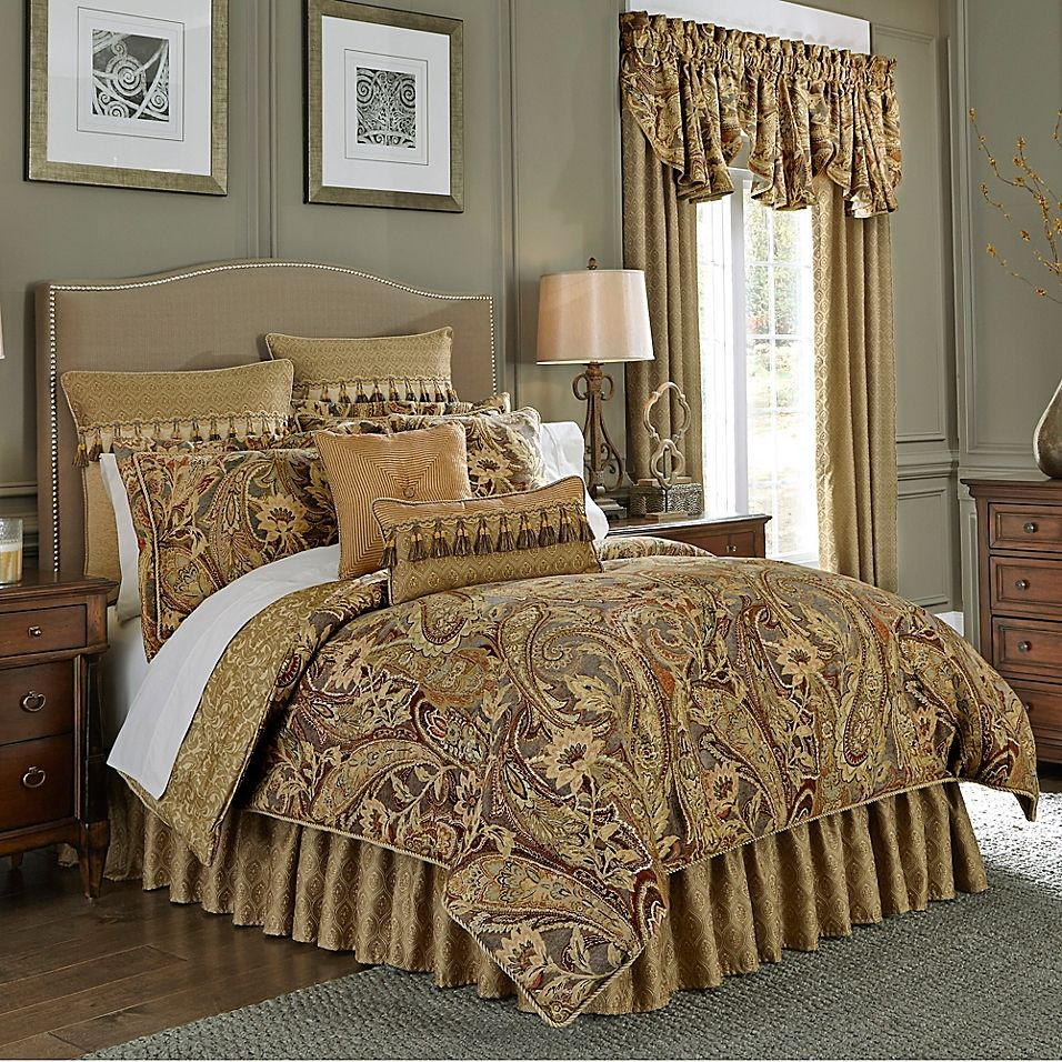 Croscill Ashton California King Comforter Set In Gold With