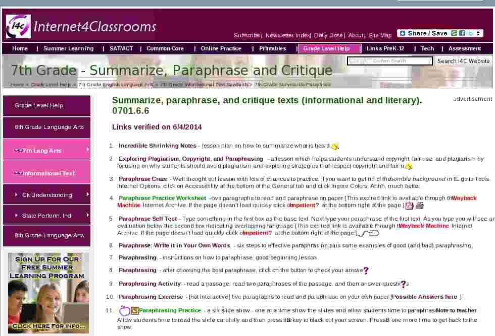 Great plagiarism summarizing paraphrasing website with