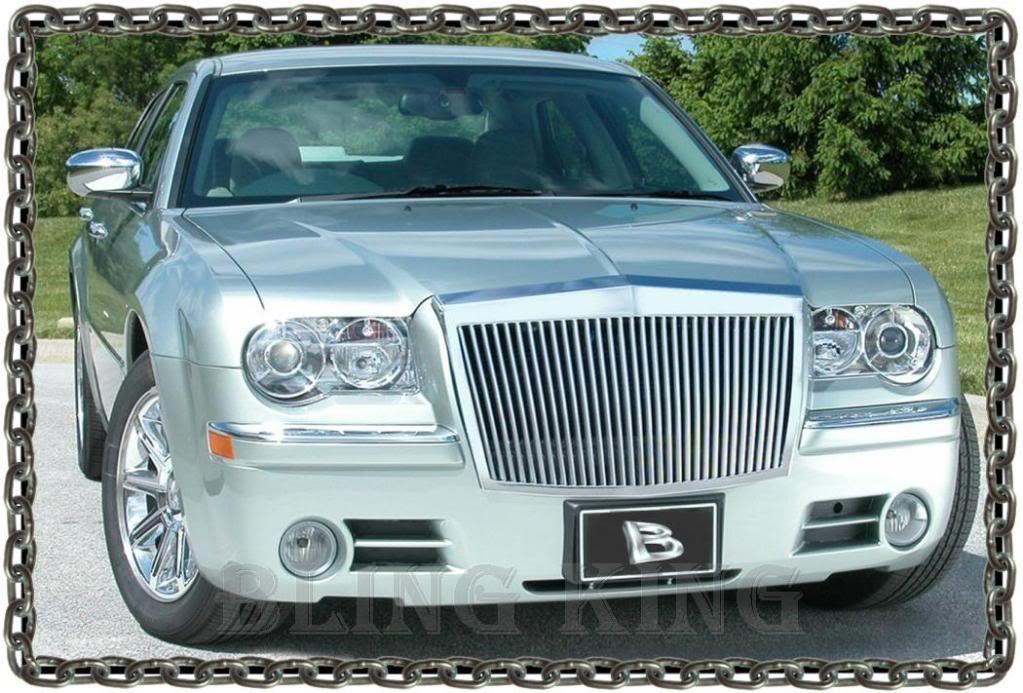 Chrome Vertical Bumper Hood Front Grill Grille Fits 2005-20010 Chrysler 300C