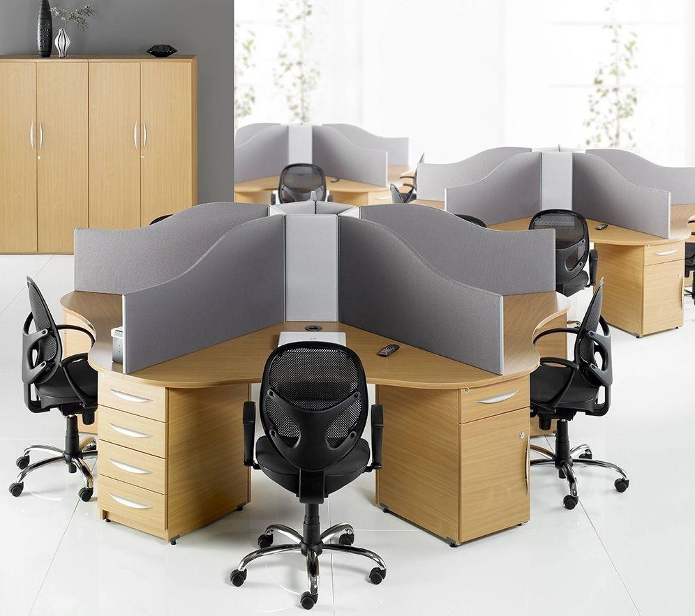 Circular Call Centre Desks | Desk ideas for OS | Pinterest ...