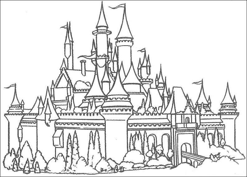 kasteel prinses kleurplaatjes disney kleurplaten