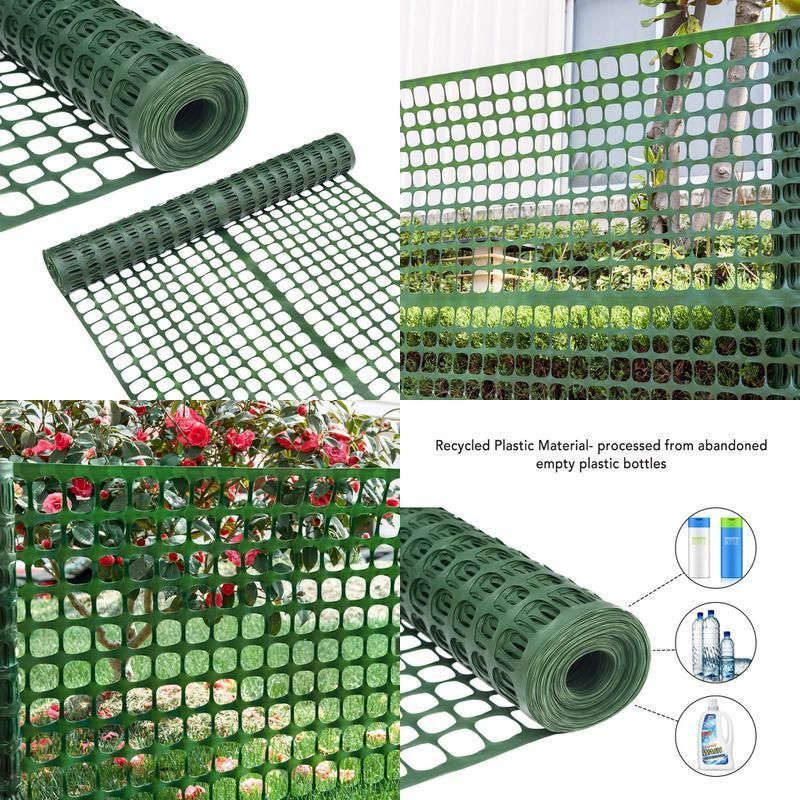 Snow Fencing Lightweight Safety Netting Recyclable Plastic Barrier