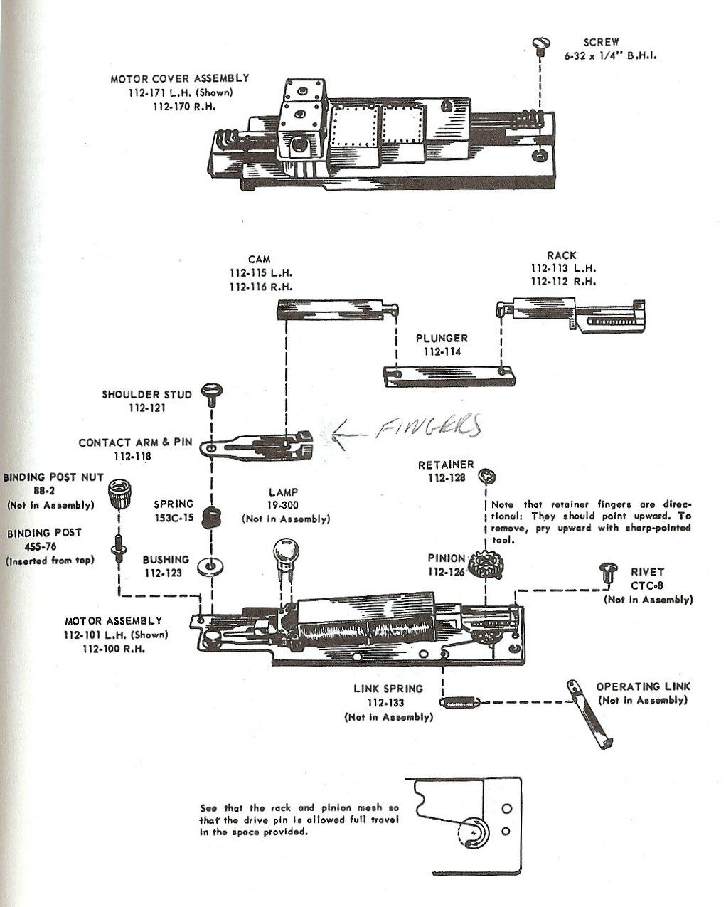 Switch 112 Motor Parts View