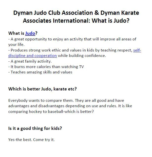 Dyman Judo Club Association Dyman Karate Associates International