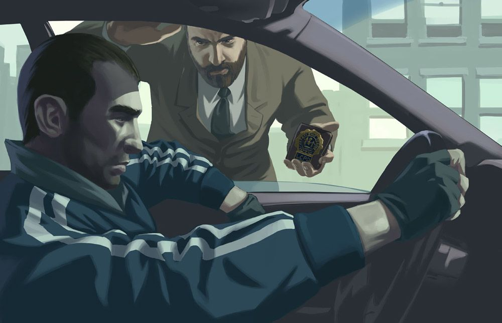 Niko Bellic from Grand Theft Auto IV.