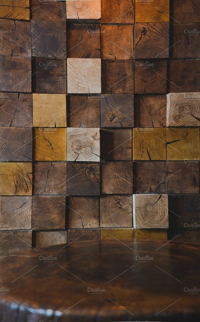 Modern wood texture on wall in cafe by pro motion on for Modern wallpaper for walls designs texture