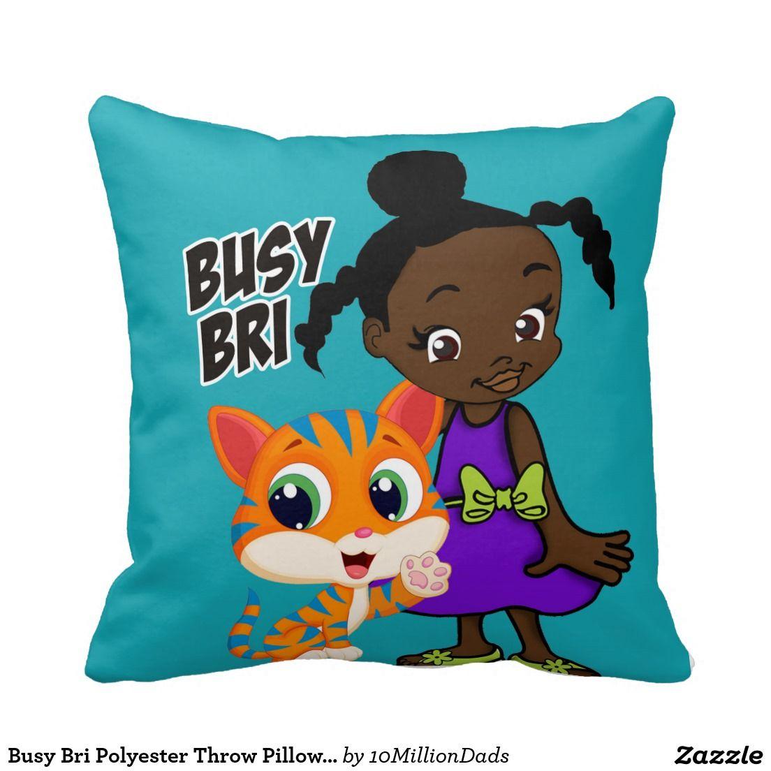 Busy bri polyester throw pillow 16 x 16 nursery decor