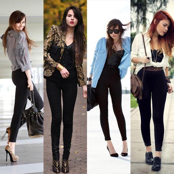 Black pants dressed up