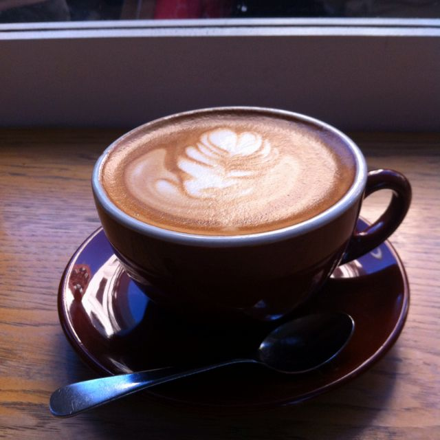 Latte From Blue Bottle Coffee, San Francisco. The Machine