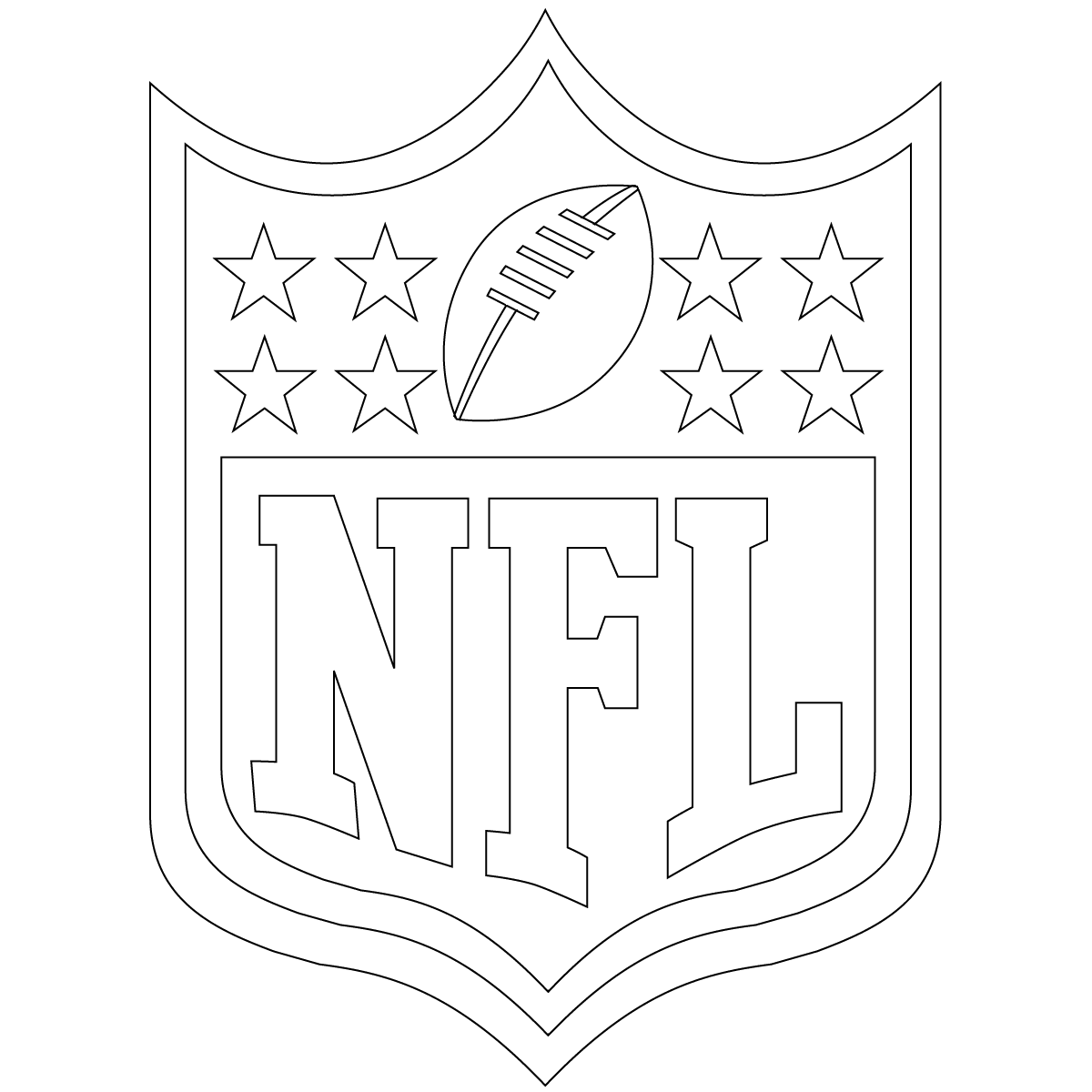 NFL Coloring Pages Logo   Superbowl Party   Pinterest   Coloring ...