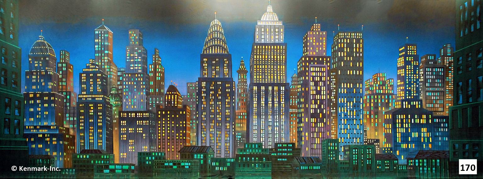Annie Theatrical Backdrop Rentals By Kenmark Scenic Backdrops Night City Backdrops Theatre Backdrops