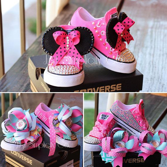 118bba2e9 Disney Baby Moana Bling Shoes, Minnie Mouse Bling Sneakers, Shopkins Bling  Converse, Bling