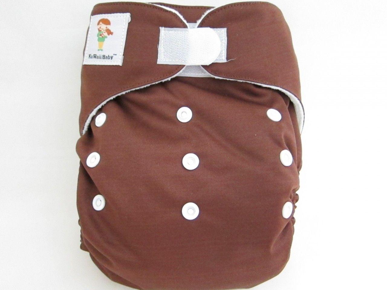OS Heavy Duty Micro-fleece Inner cloth diaper.  Color: Coffee.