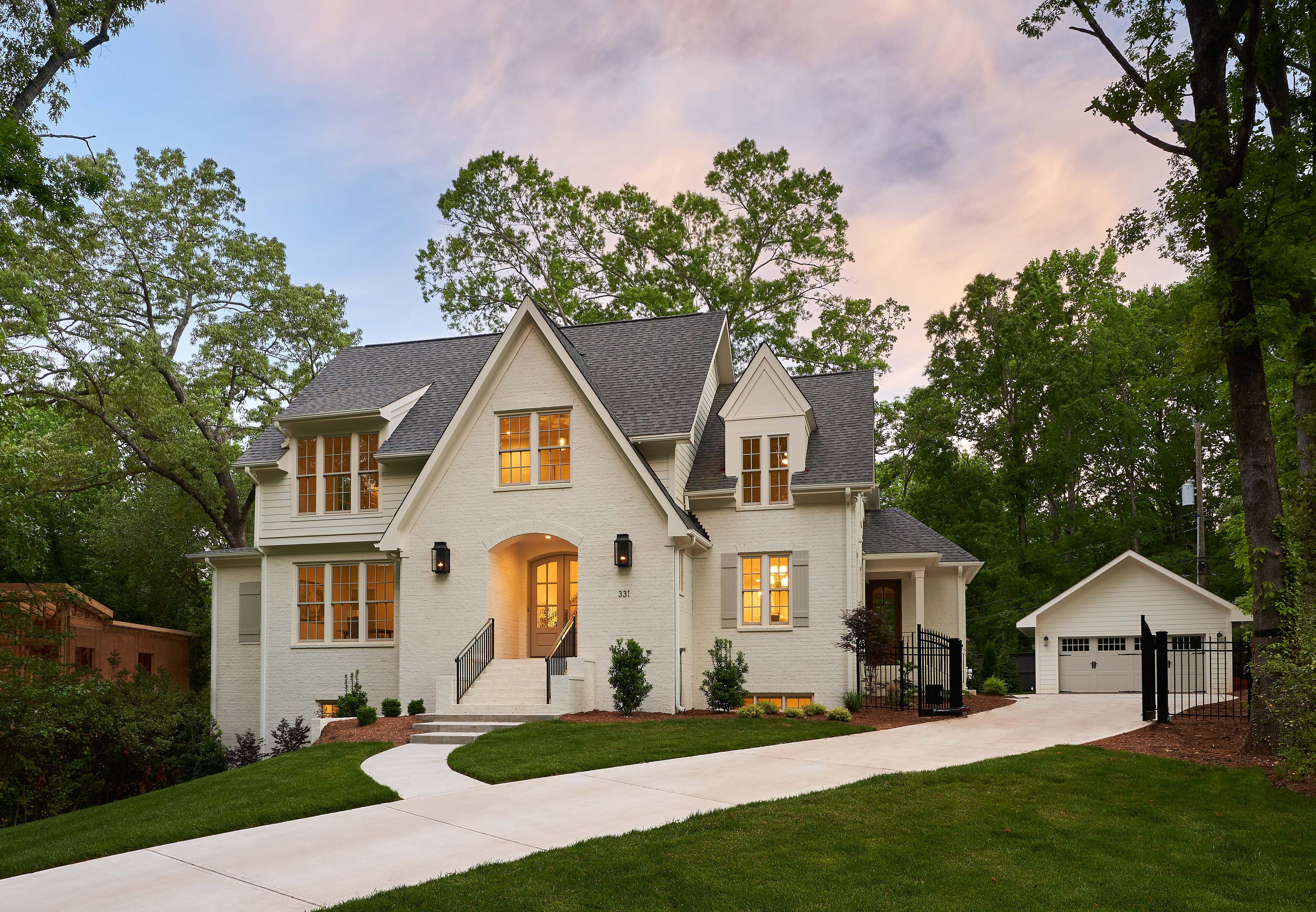 New custom home in cotswold charlotte nc grandfather homes