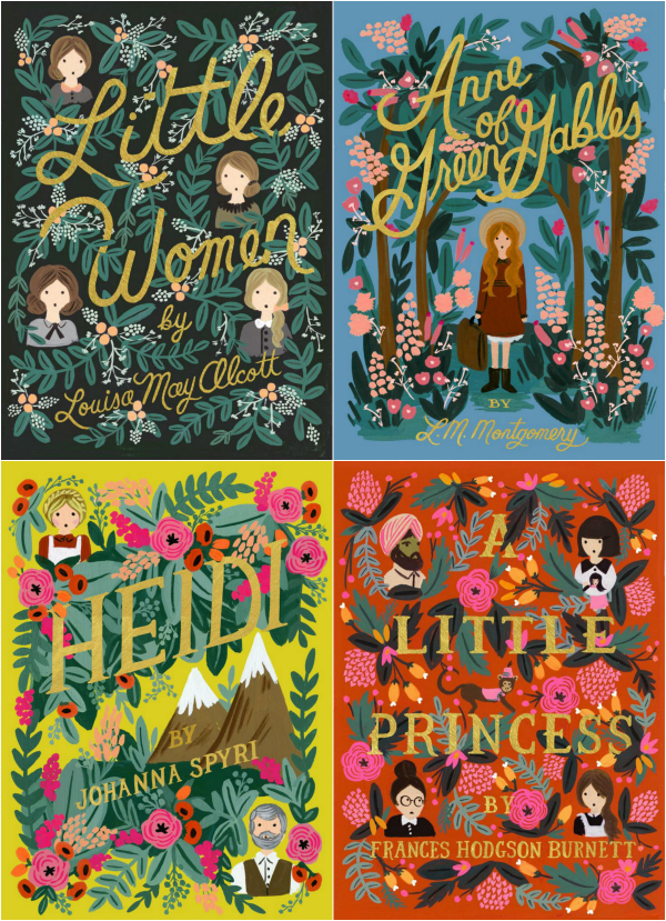Beautifully Illustrated Book Covers : Puffin in bloom classic girl reads with beautifully