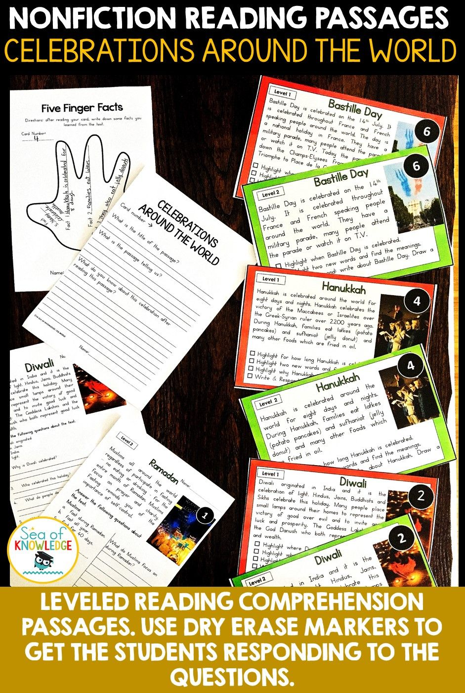 These Nonfiction Texts Will Engage Every Student In Your Class No Matter Their Reading Leve Nonfiction Reading Passages Celebration Around The World Nonfiction [ 1402 x 941 Pixel ]