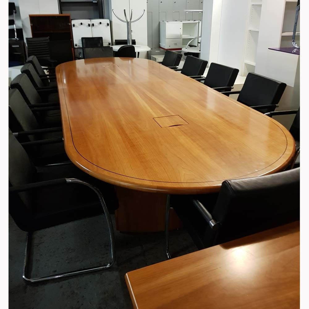 Second Hand Walnut Boardroom Table Chairs Next Day Delivery