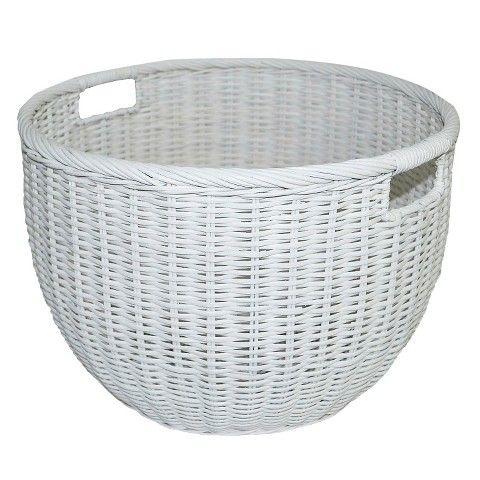 Rattan Basket Round White - Pillowfort™