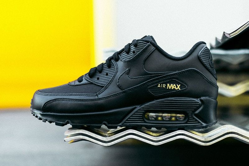 Nike Air Max 90 Is the Latest to Get the Black and Gold Treatment ... 7fbdd24e1