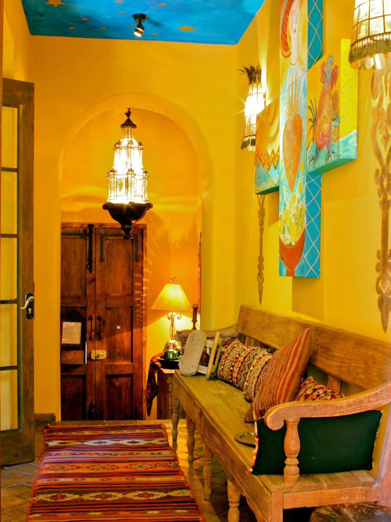 Spanish style decorating ideas spanish style hgtv and for Mexican inspired living room ideas