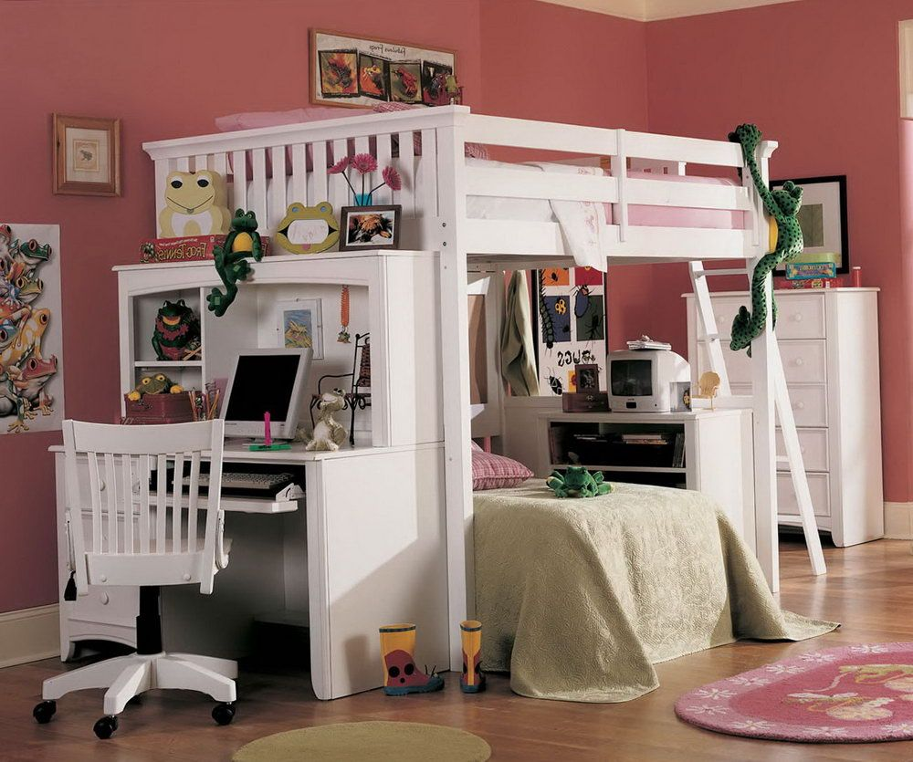 Queen Bunk Bed with Desk  Modern Interior Paint Colors Check more