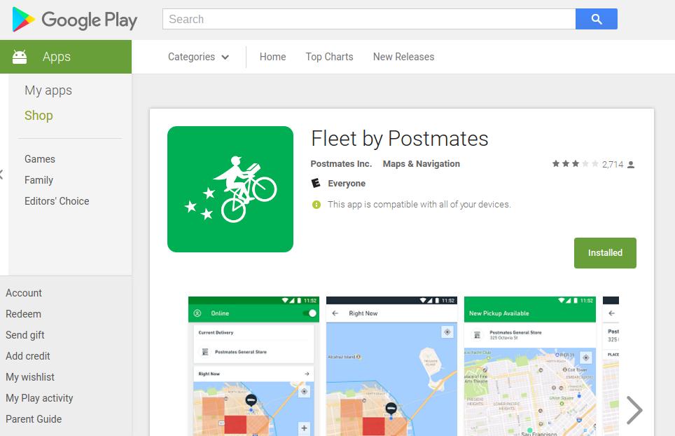 App Fleets by Postmates Fleet