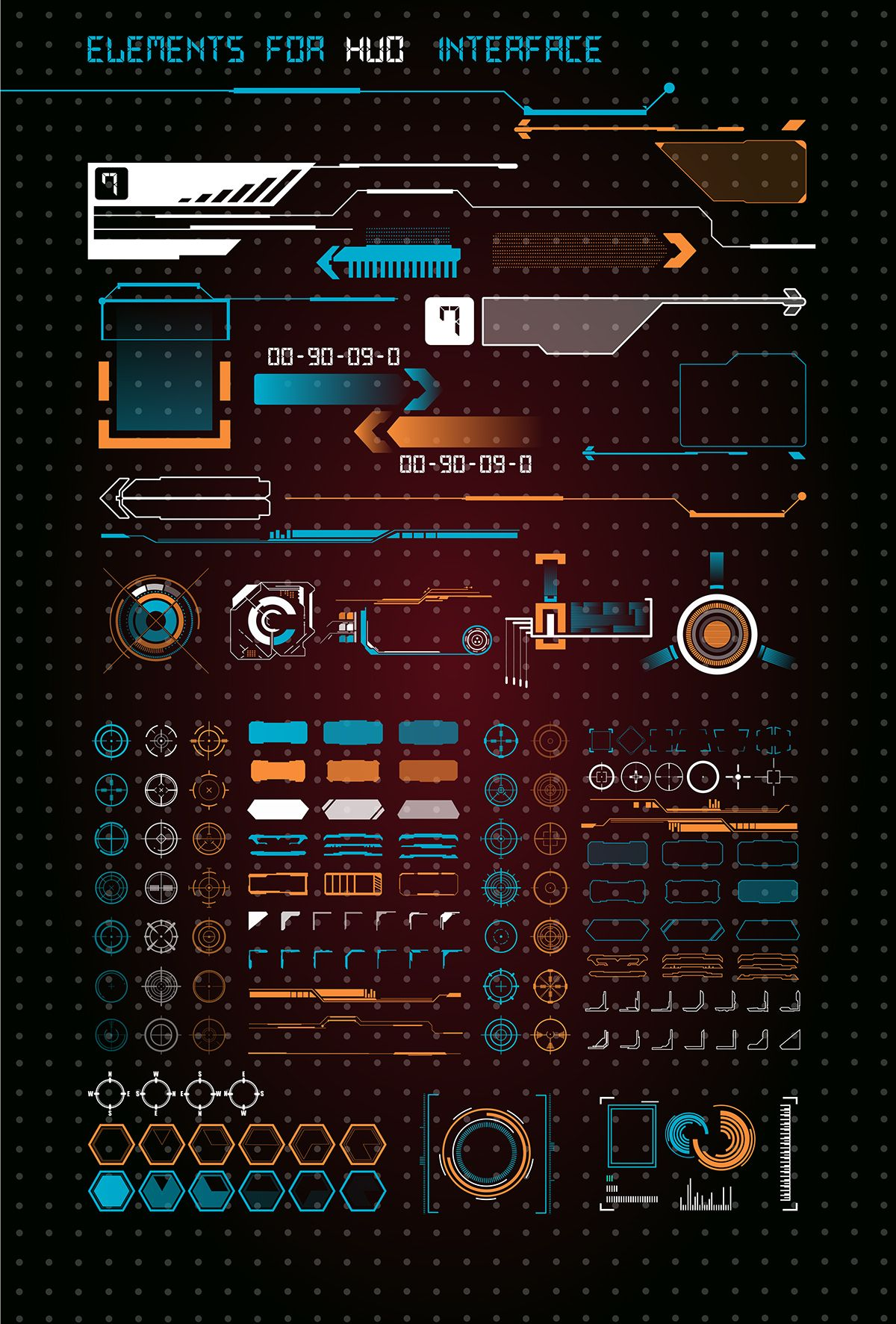 HUD UI for business app. Futuristic user interface. on Behance #userinterface
