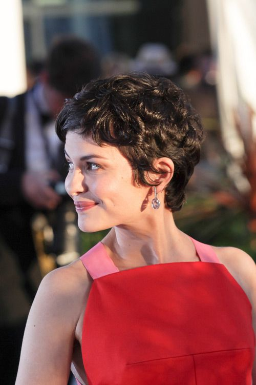 Audrey Tautou Cannes Double Shot Tom Lorenzo Fabulous Opinionated Short Curly Hair Short Hair Styles Short Hair Styles 2016