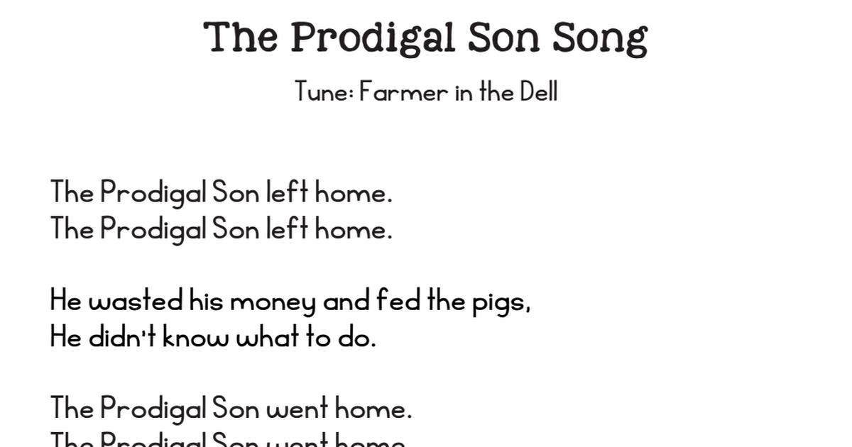 30+ Prodigal son coloring page pdf info