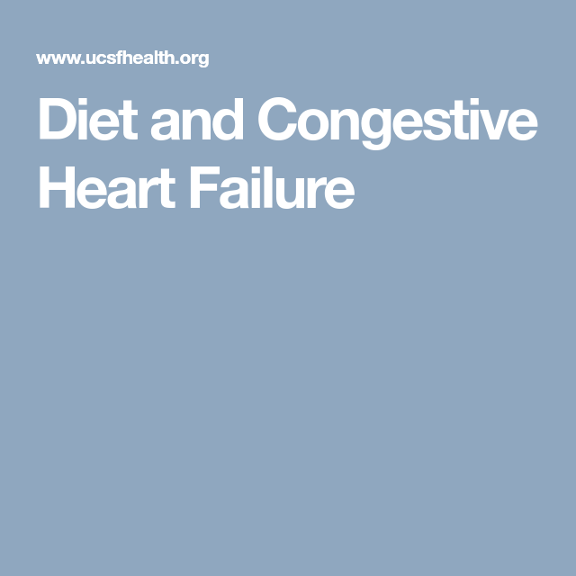 how to lose weight with congestive heart failure