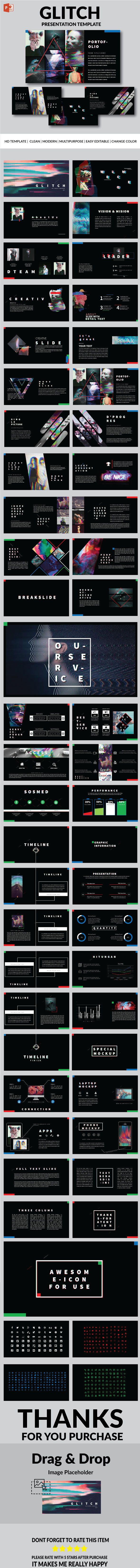 Glitch - Multipurpose PowerPoint Template | PowerPoint Templates