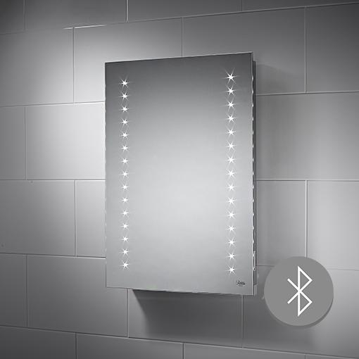 500x700mm Bluetooth Aurora LED Illuminated Bathroom Mirror ...