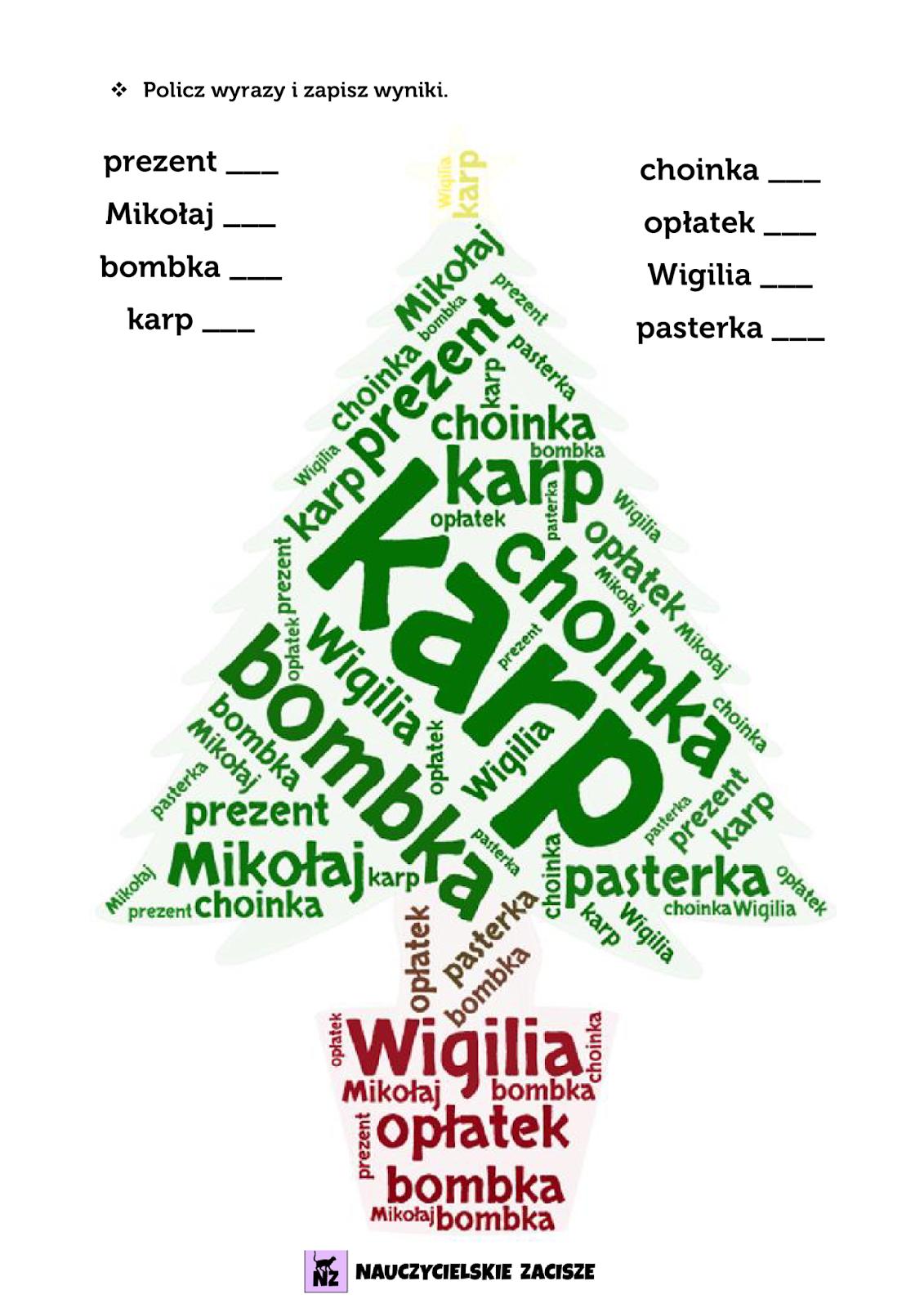 Nauczycielskie Zacisze Swiateczne Materialy Do Pobrania Holidays And Events Education Christmas Tree Ornaments