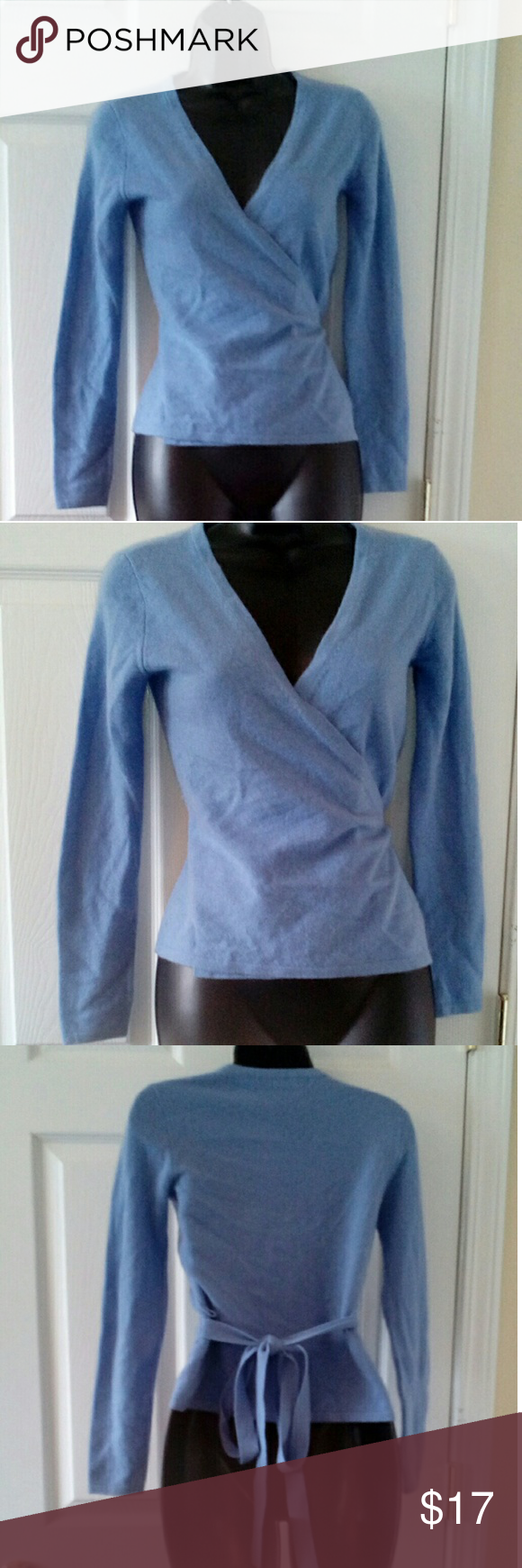Moda International lilac 100% cashmere sweater XS 14