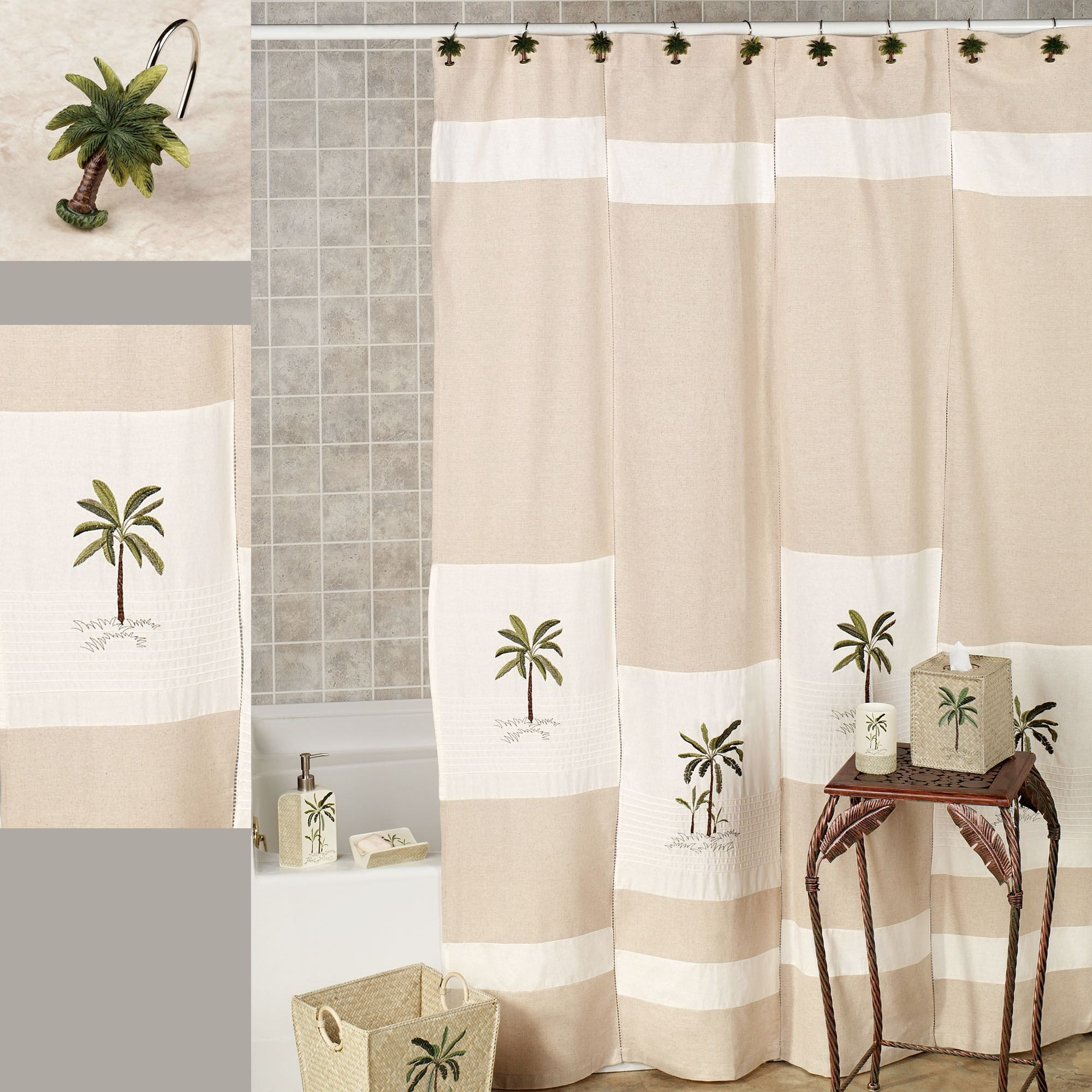 Beautiful Palm Tree Shower Curtain Target