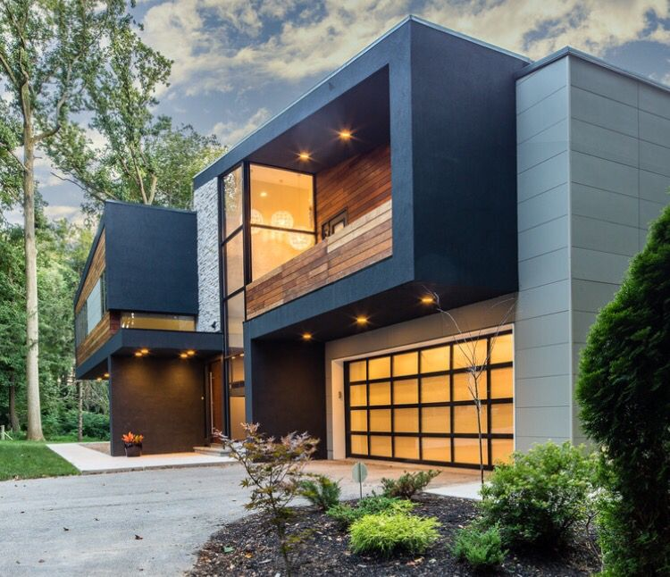 Modern Home Ideas Exterior Design: Modern House In Villanova. Epe, Stone, Drivet And Nichiha