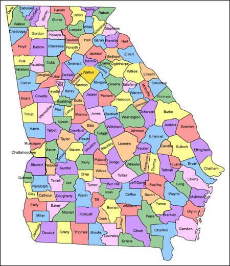 Counties Map Georgia Sociology Interests Pinterest Georgia