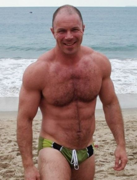 Hairy men in speedos wearing sexy